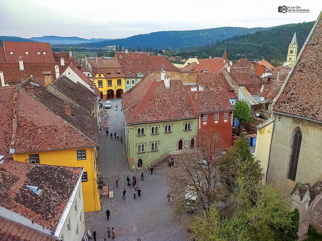 La Casa Veneciana vista desde la Torre del Reloj