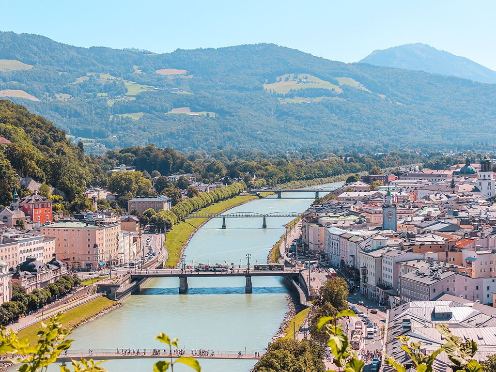 Río Salzach en Salzburgo