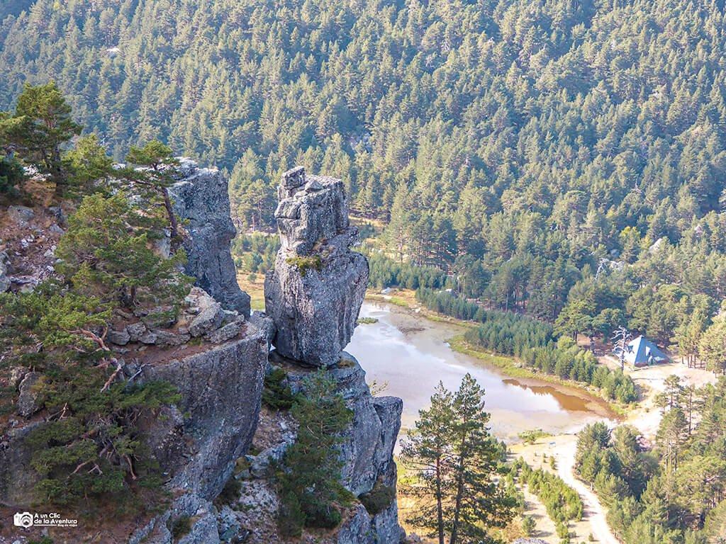 Laguna de la Cascada de Neila desde arriba
