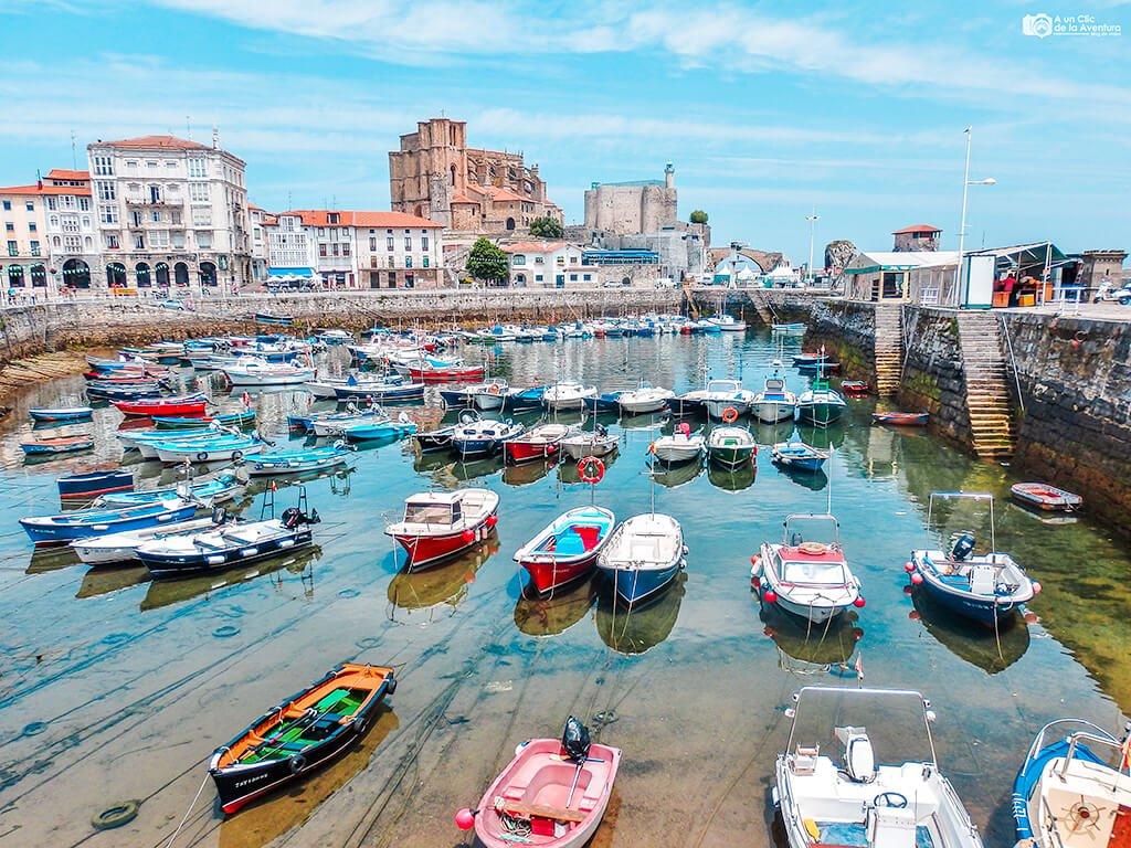 Puerto de Castro Urdiales, uno de los pueblos más bonitos de Cantabria