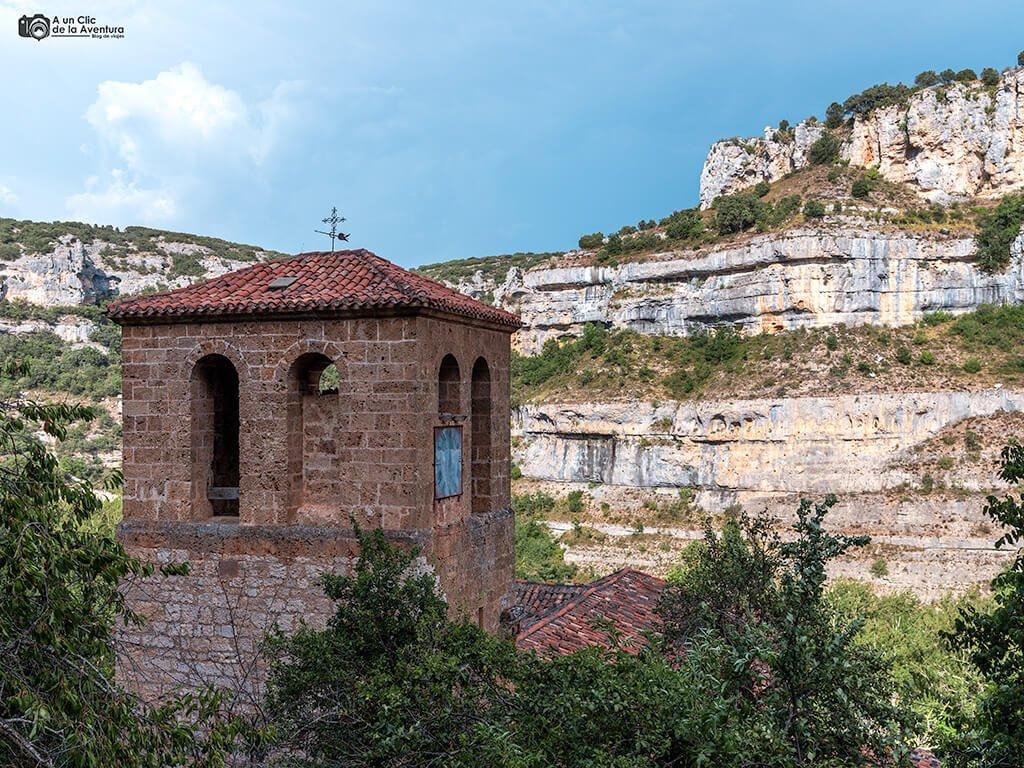 Torre de la iglesia de Santa María de Orbaneja del Castillo
