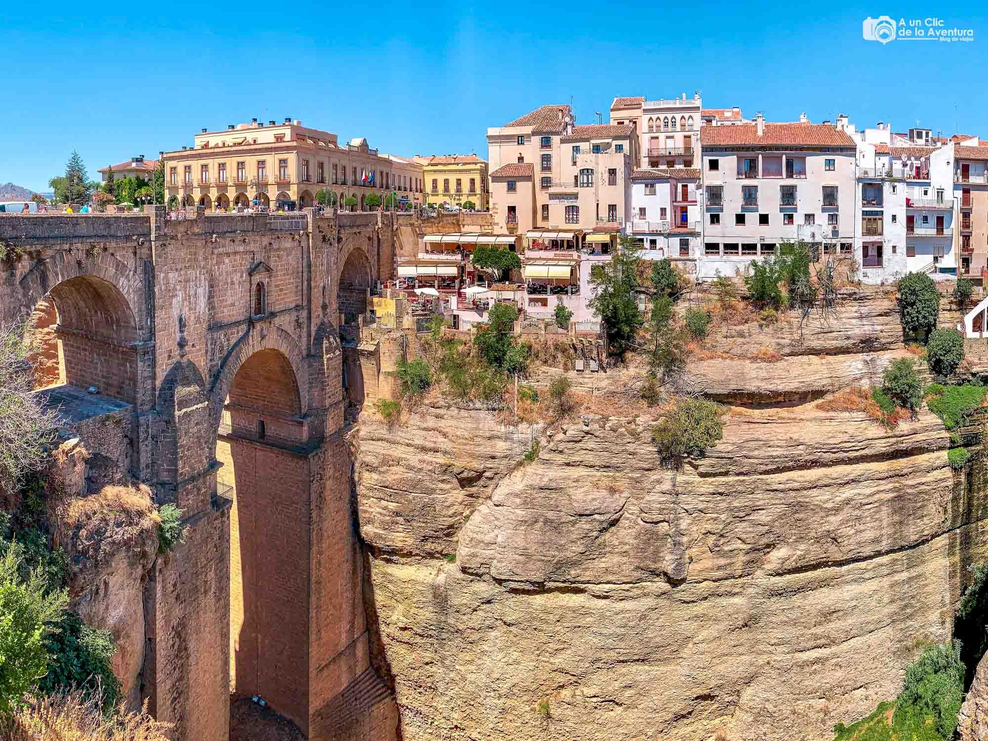 Puente Nuevo de Ronda desde el Mirador de los Viajeros Románticos