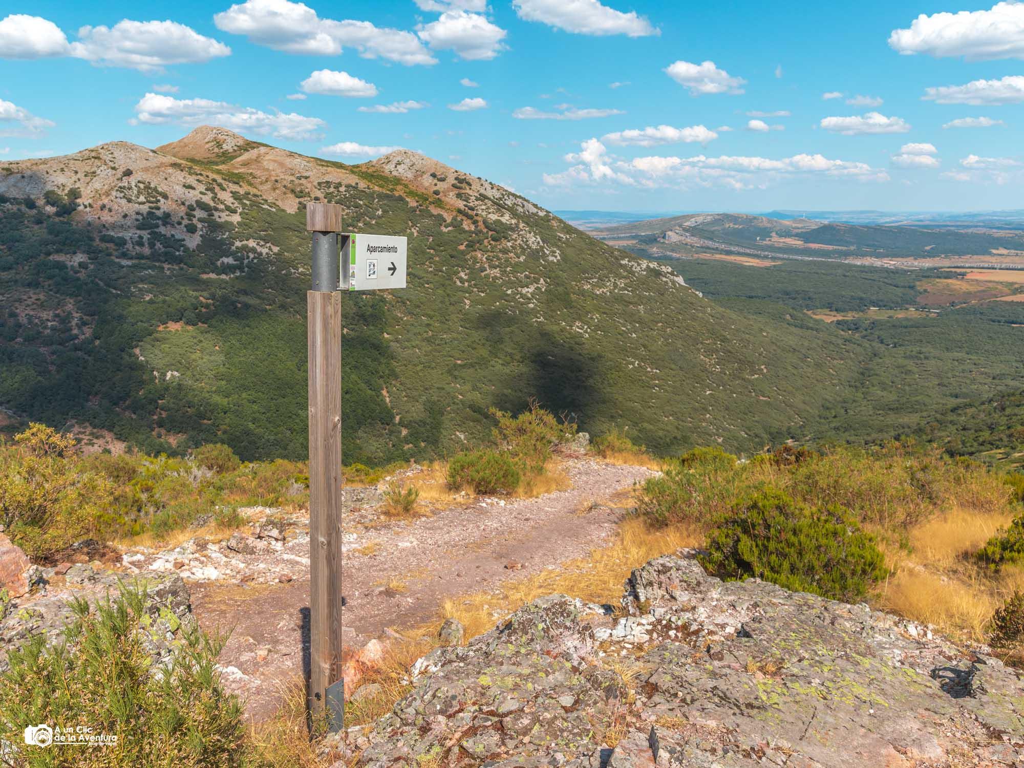 Camino de vuelta en la ruta de la Tejeda de Tosande