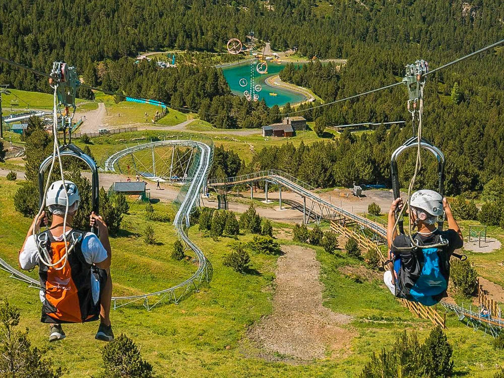 Tirolina de Mont Magic, Grandvalira, Andorra
