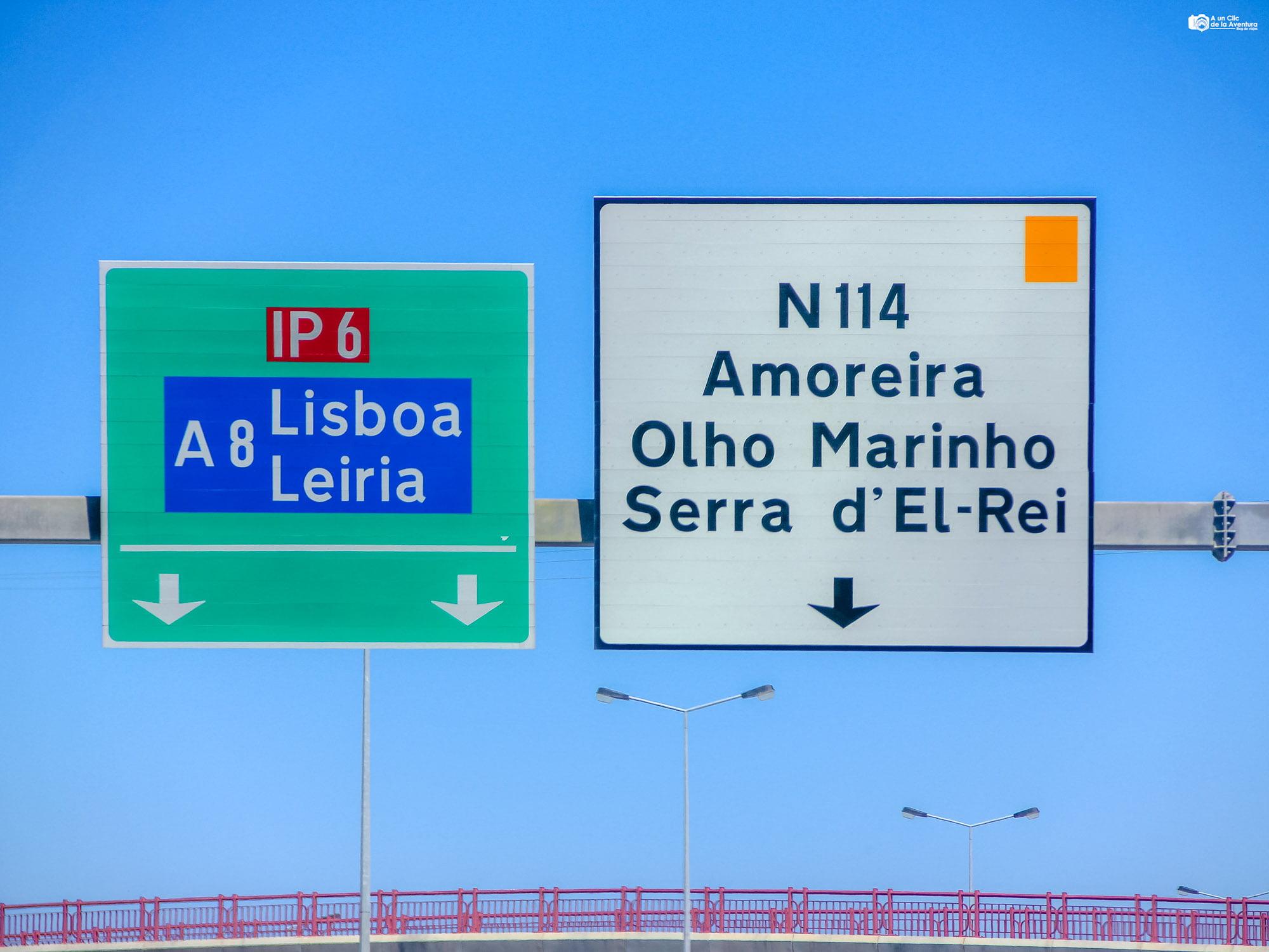 Señalización de las carreteras de Portugal