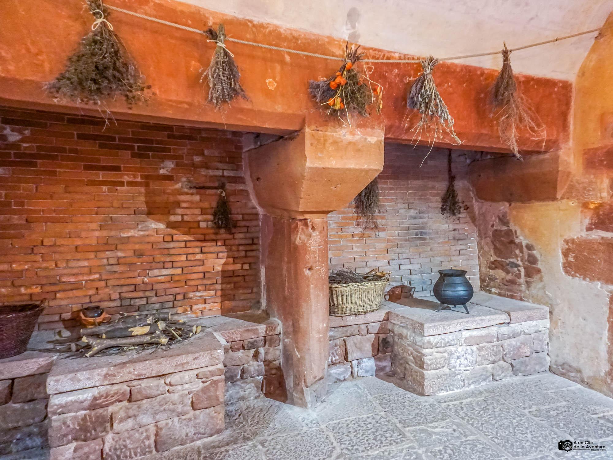 Cocina medieval del Castillo de Haut-Koenigsbourg