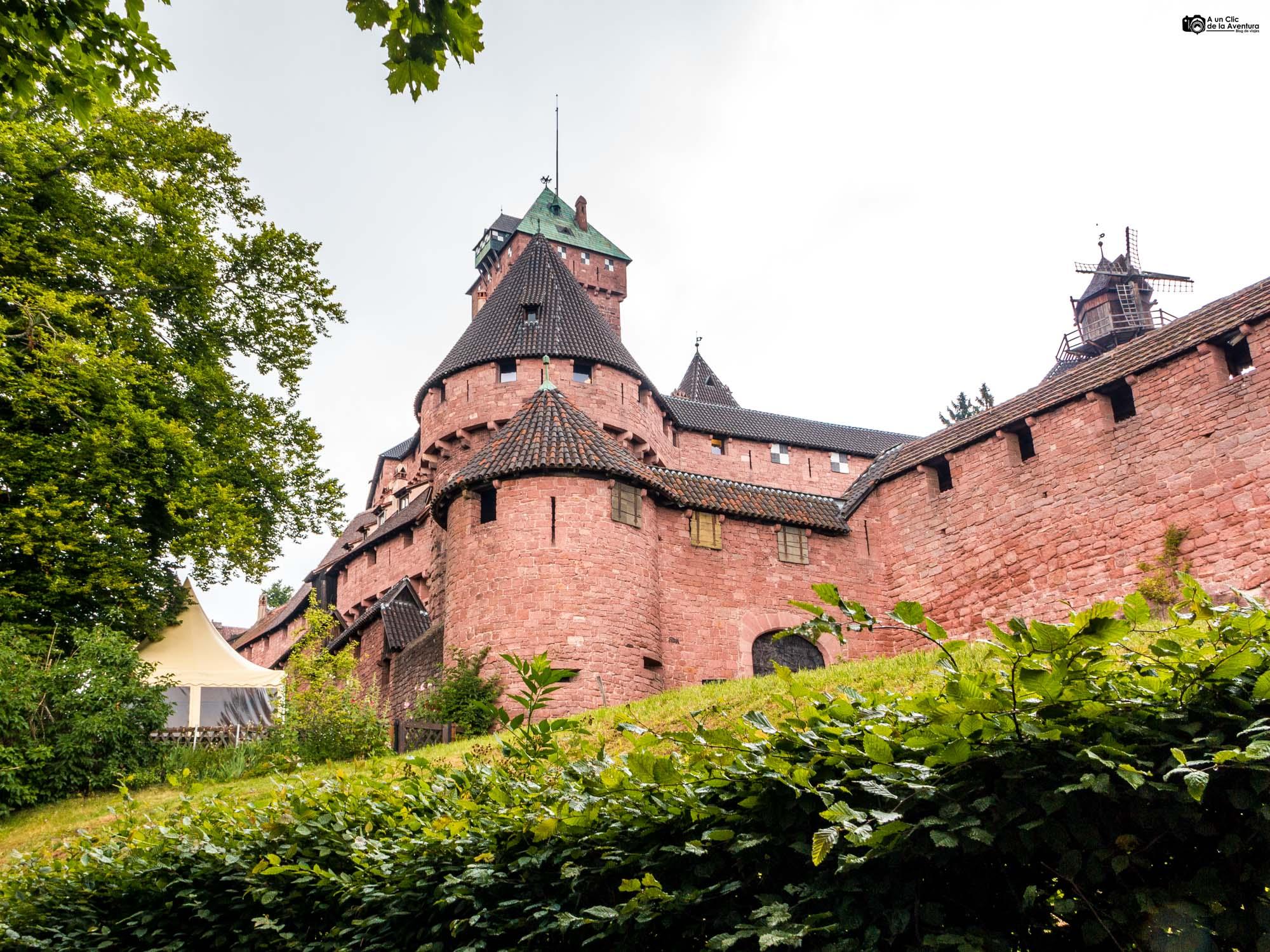 Exterior del castillo de Haut-Koenigsbourg