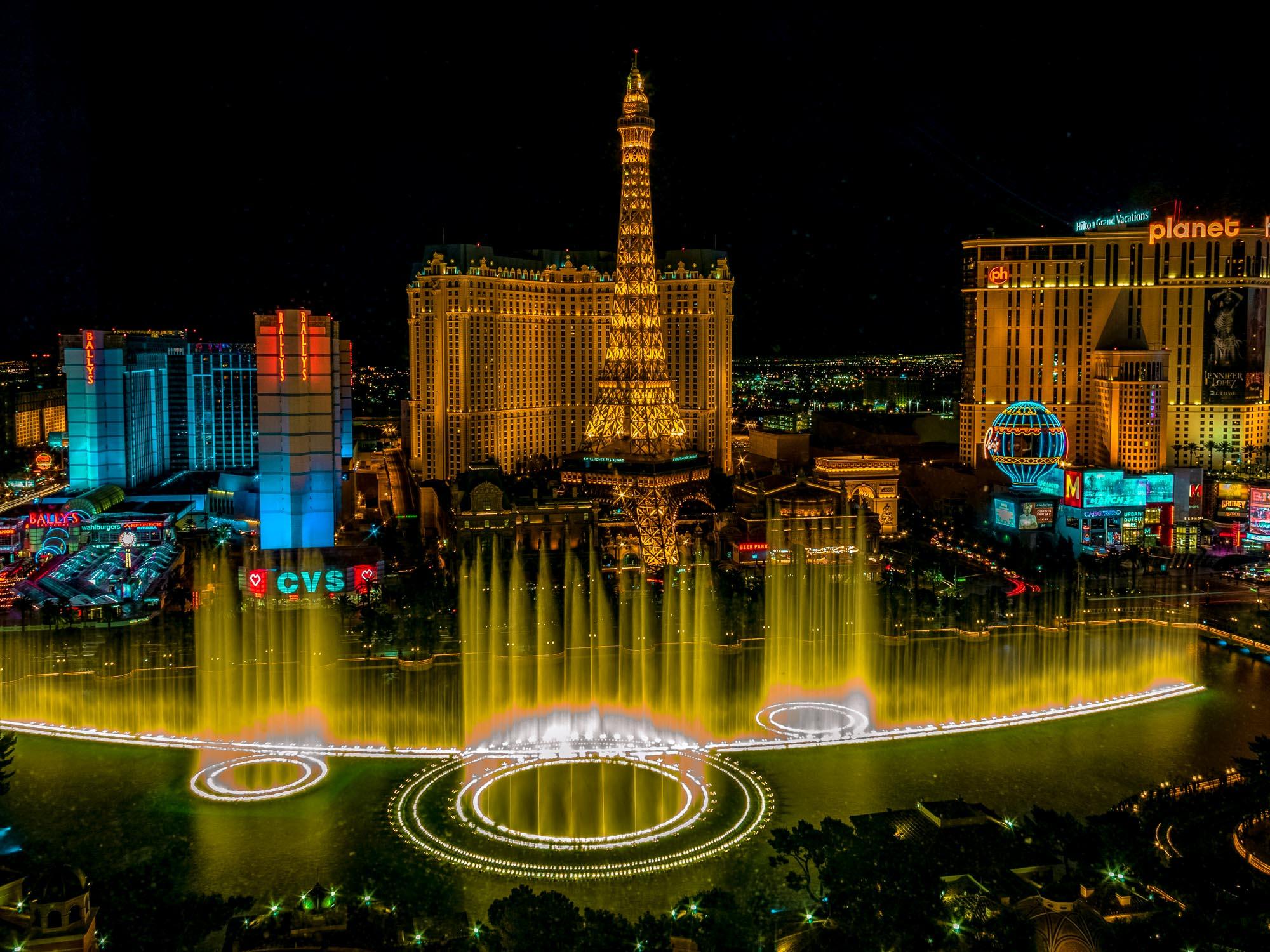 Espectáculo de fuentes del Hotel Bellagio, Las Vegas