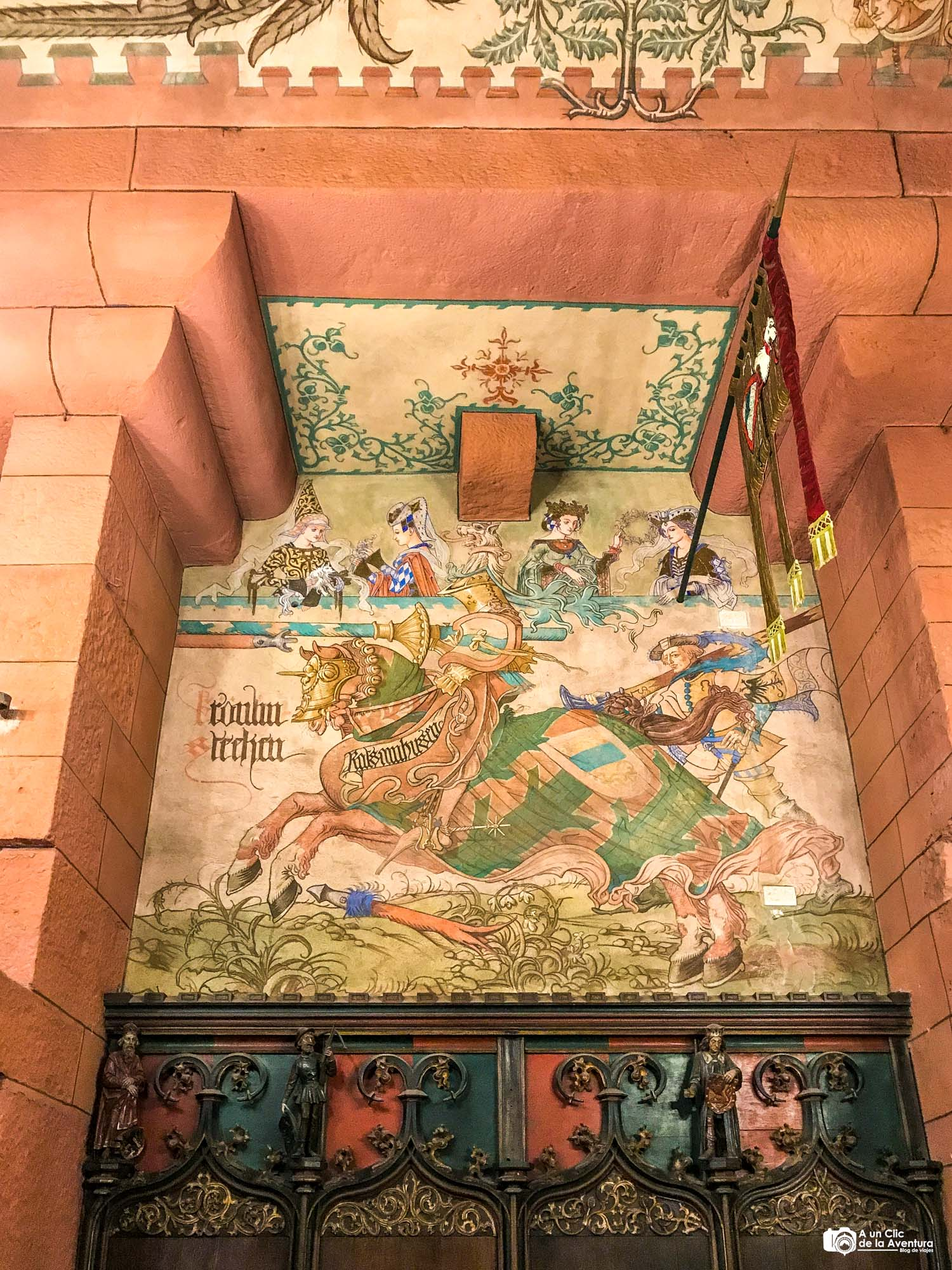 Mural del Salón del Káiser del Castillo de Haut-Koenigsbourg