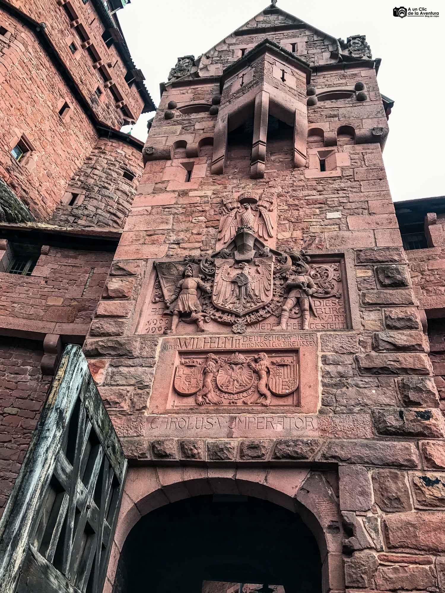Puerta de Honor del Castillo de Haut-Koenigsbourg