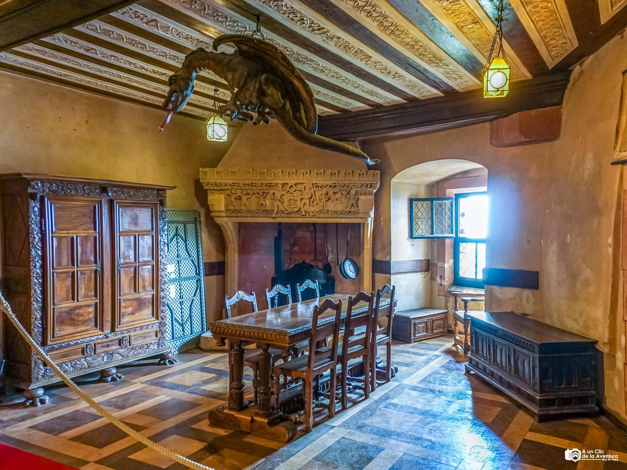Sala de Lorena del Castillo de Haut-Koenigsbourg