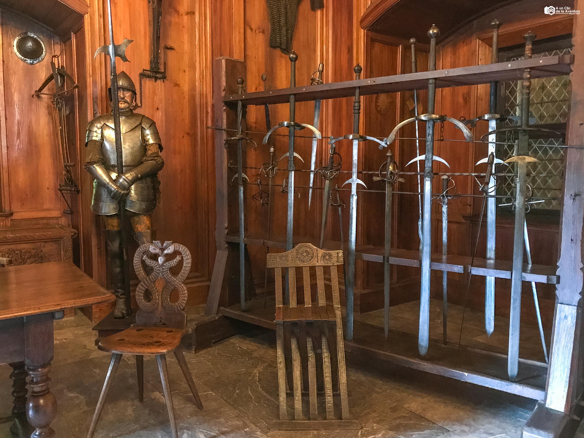 Sala de armas del Castillo de Haut-Koenigsbourg