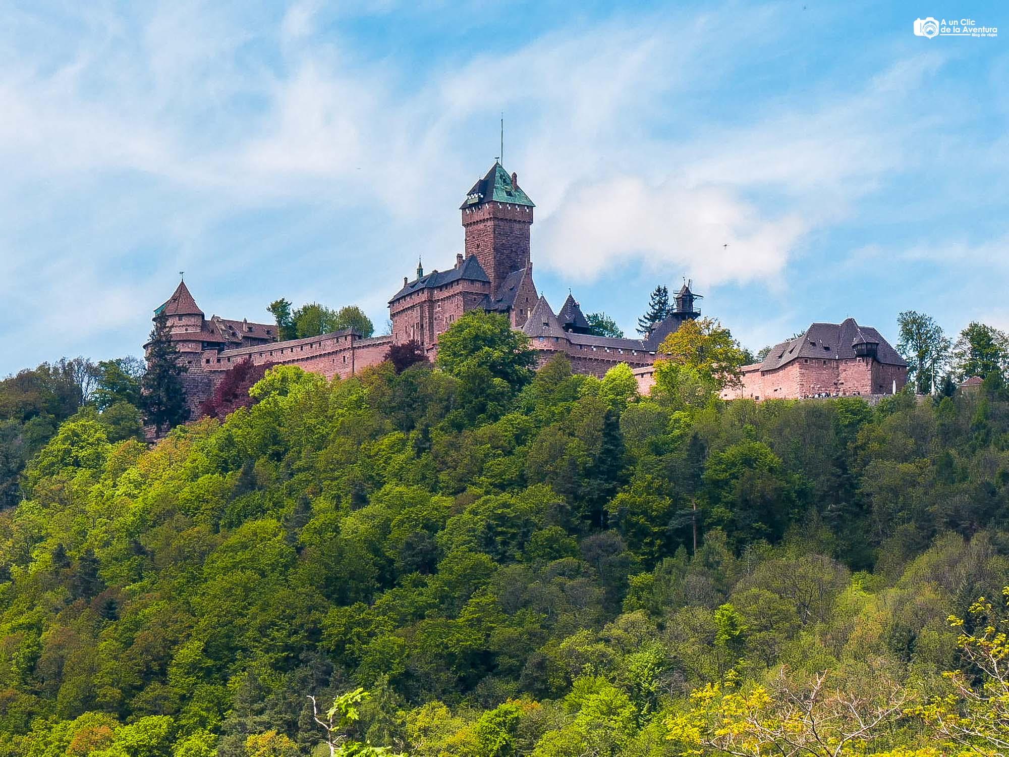 Vista del Castillo de Haut-Koenigsbourg