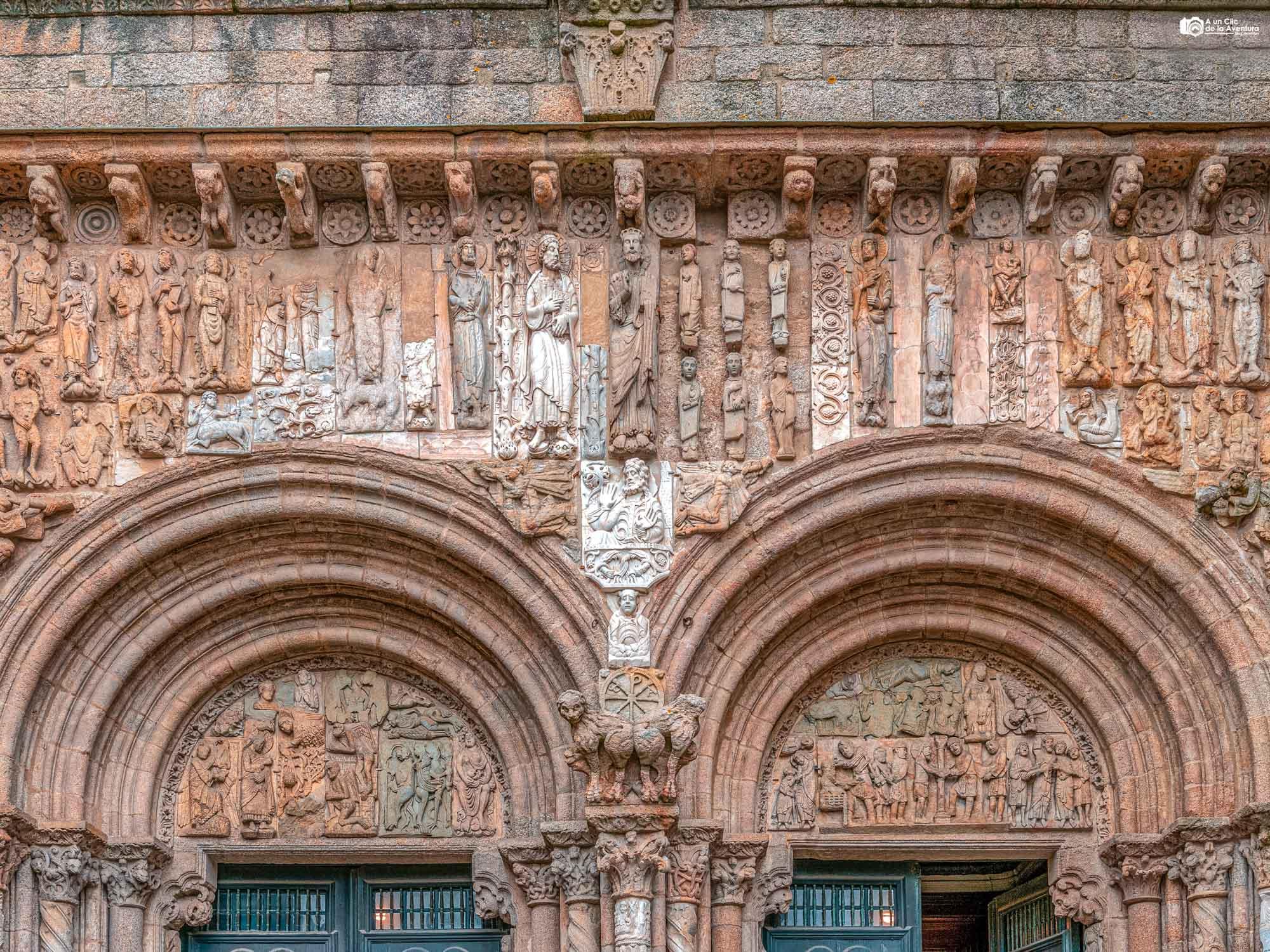 Fachada de las Platerías de la Catedral de Santiago de Compostela
