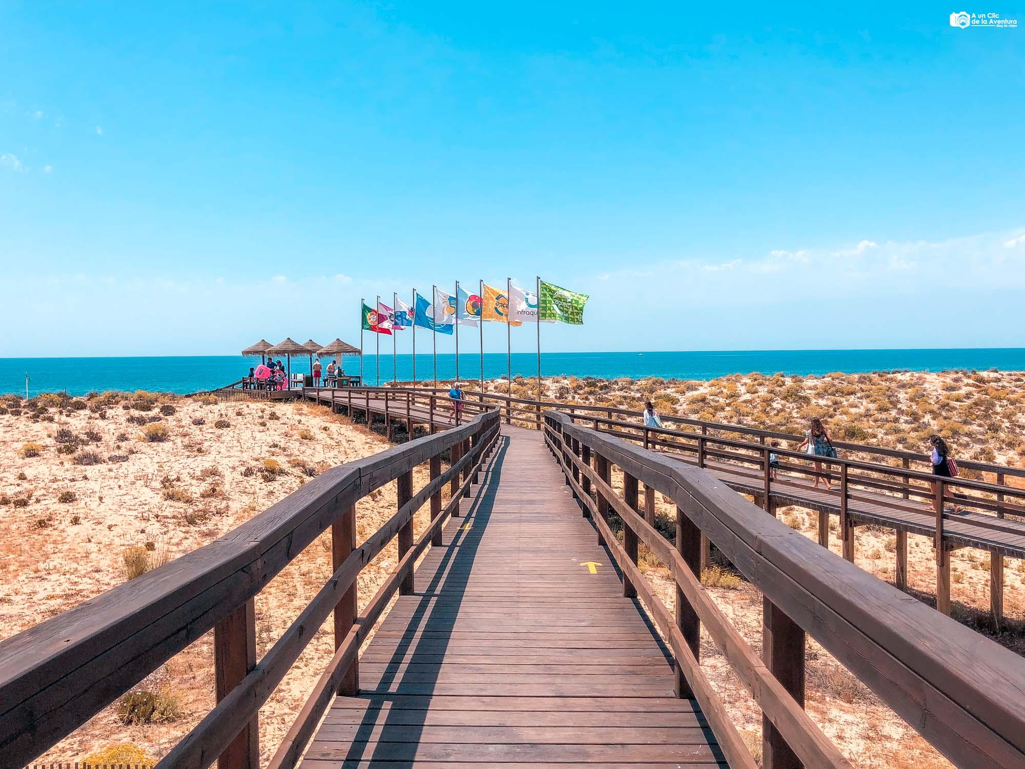 Acceso a la Praia do Ancão o Playa de Ancão