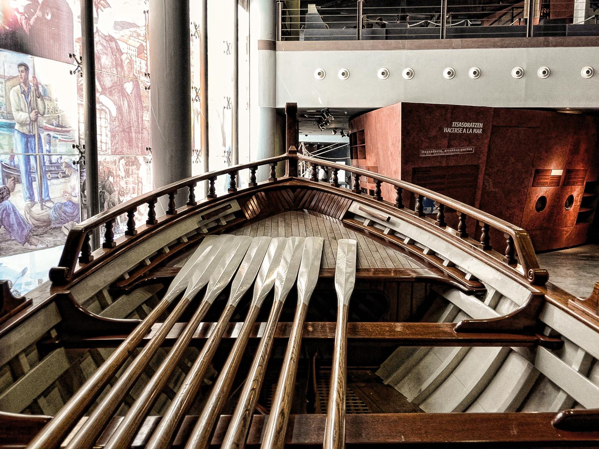Interior del Itsasmuseum de Bilbao