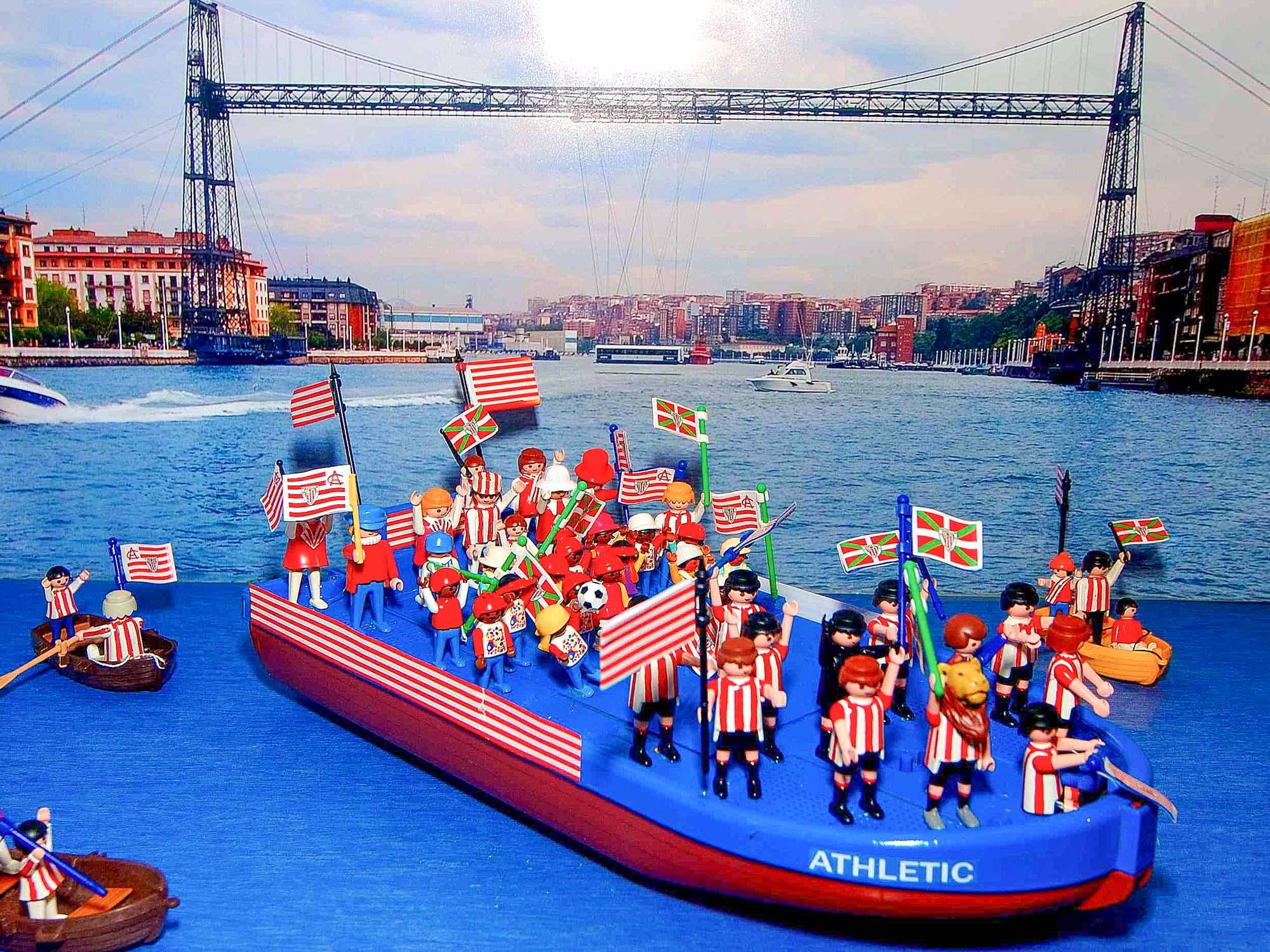 Diorama de Playmobil en el Museo Marítimo de Bilbao