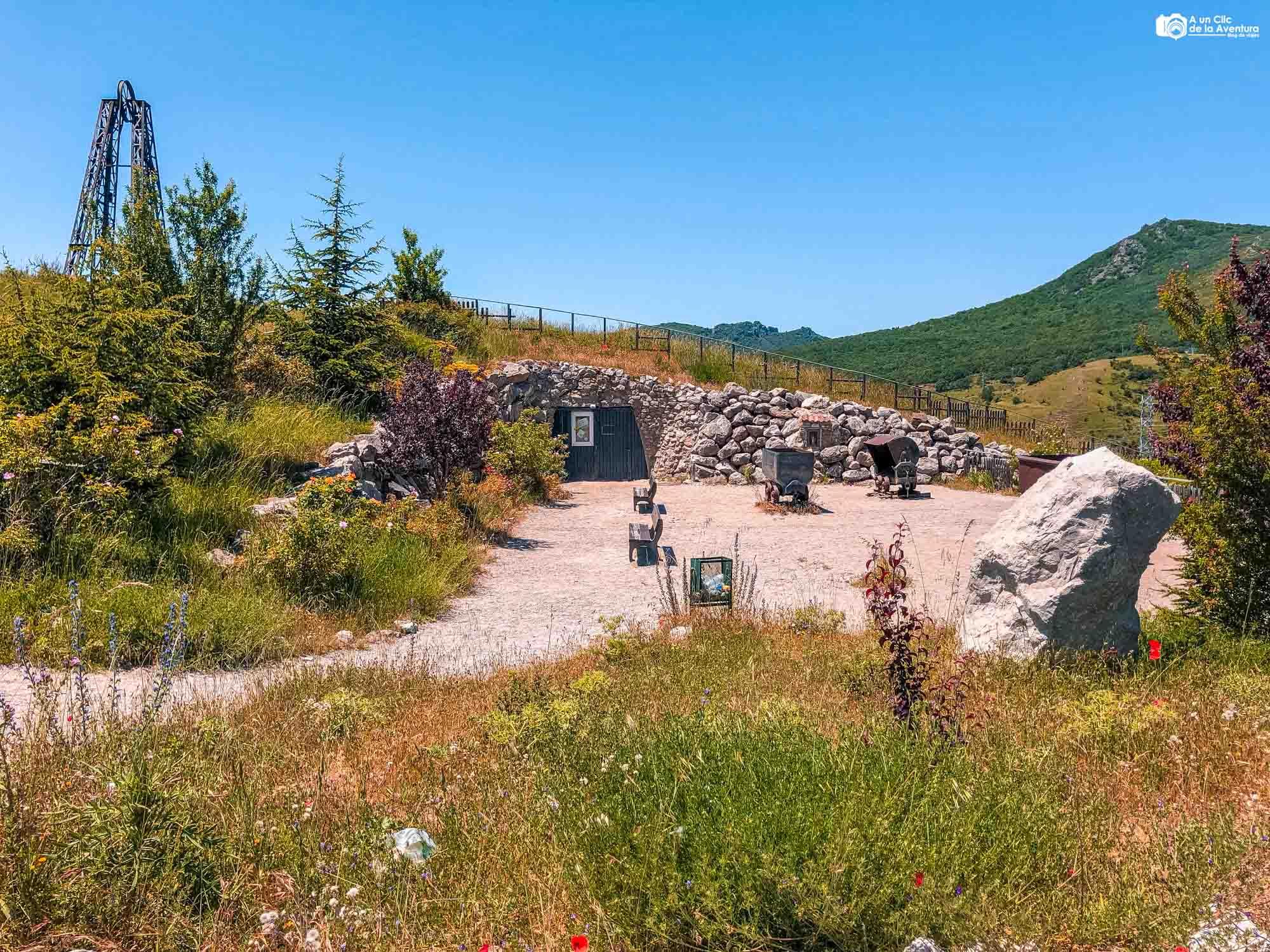 Exterior de la mina visitable de Barruelo de Santullán