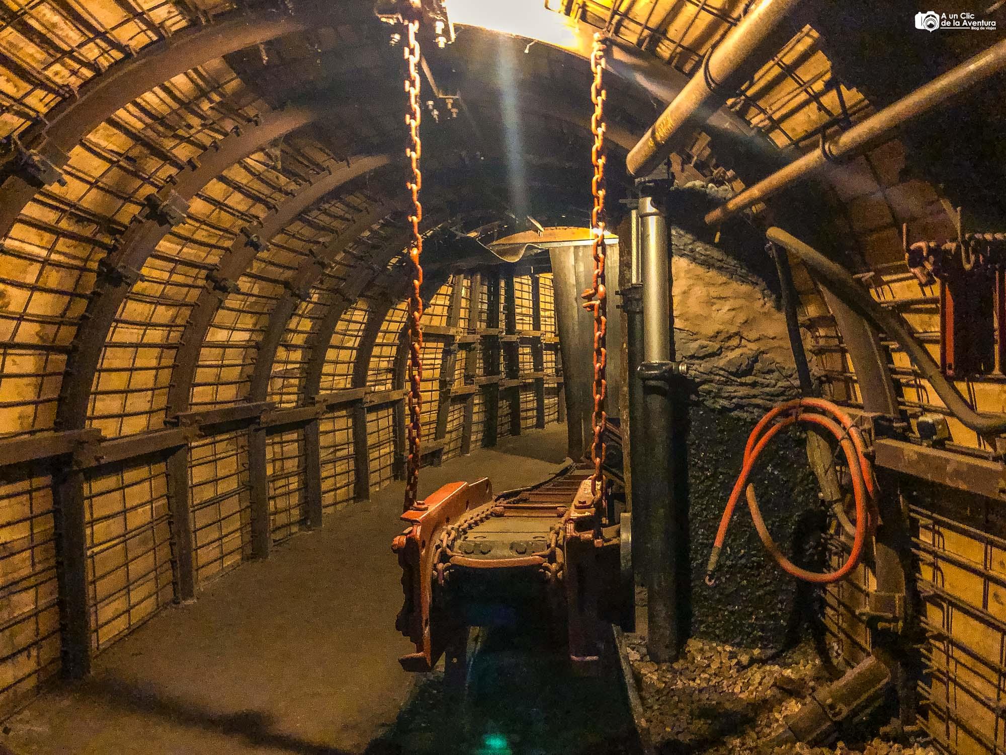 Interior de la mina visitable de Barruelo de Santullán