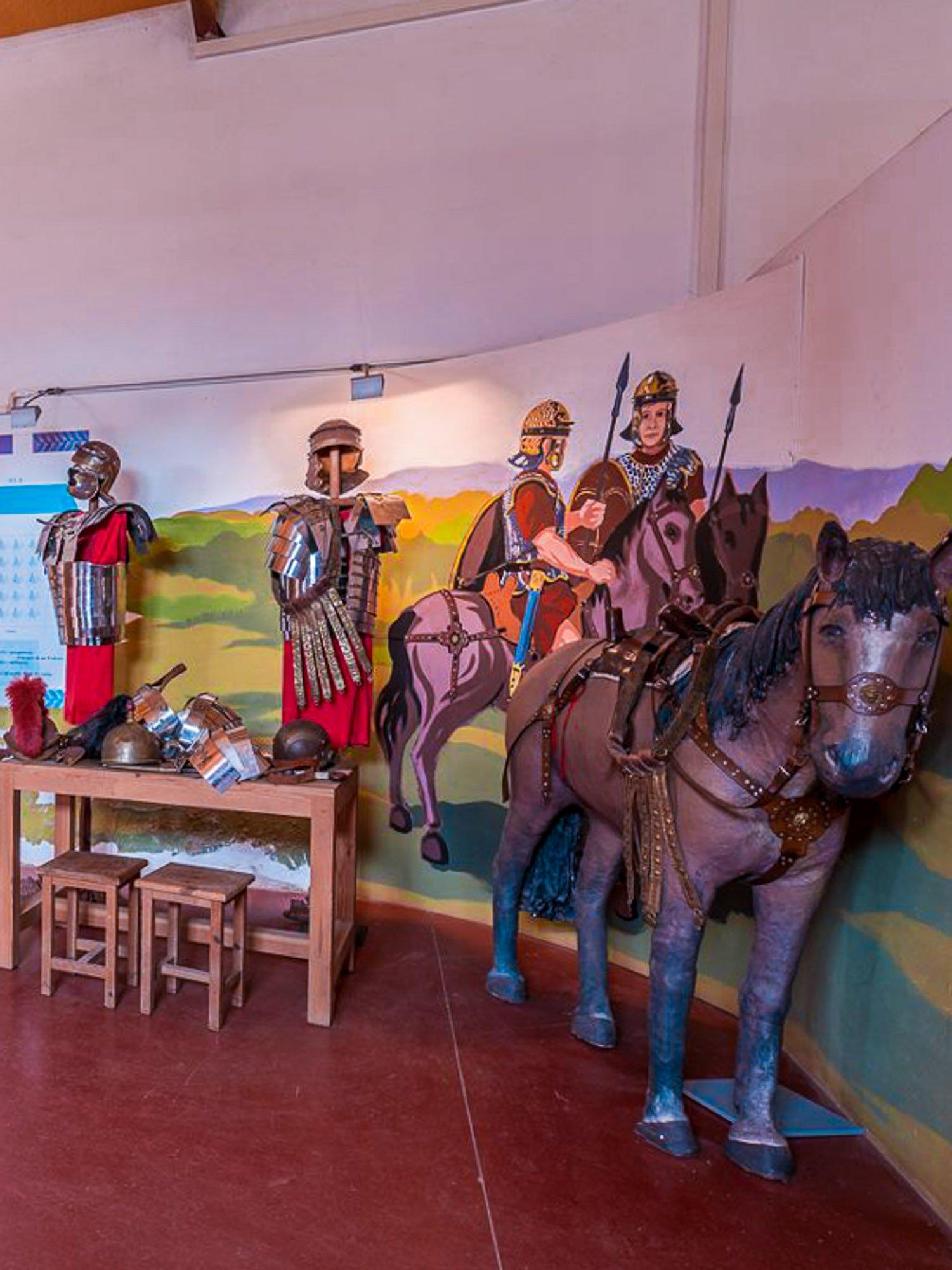 Interior del Aula Arqueológica de Herrera de Pisuerga