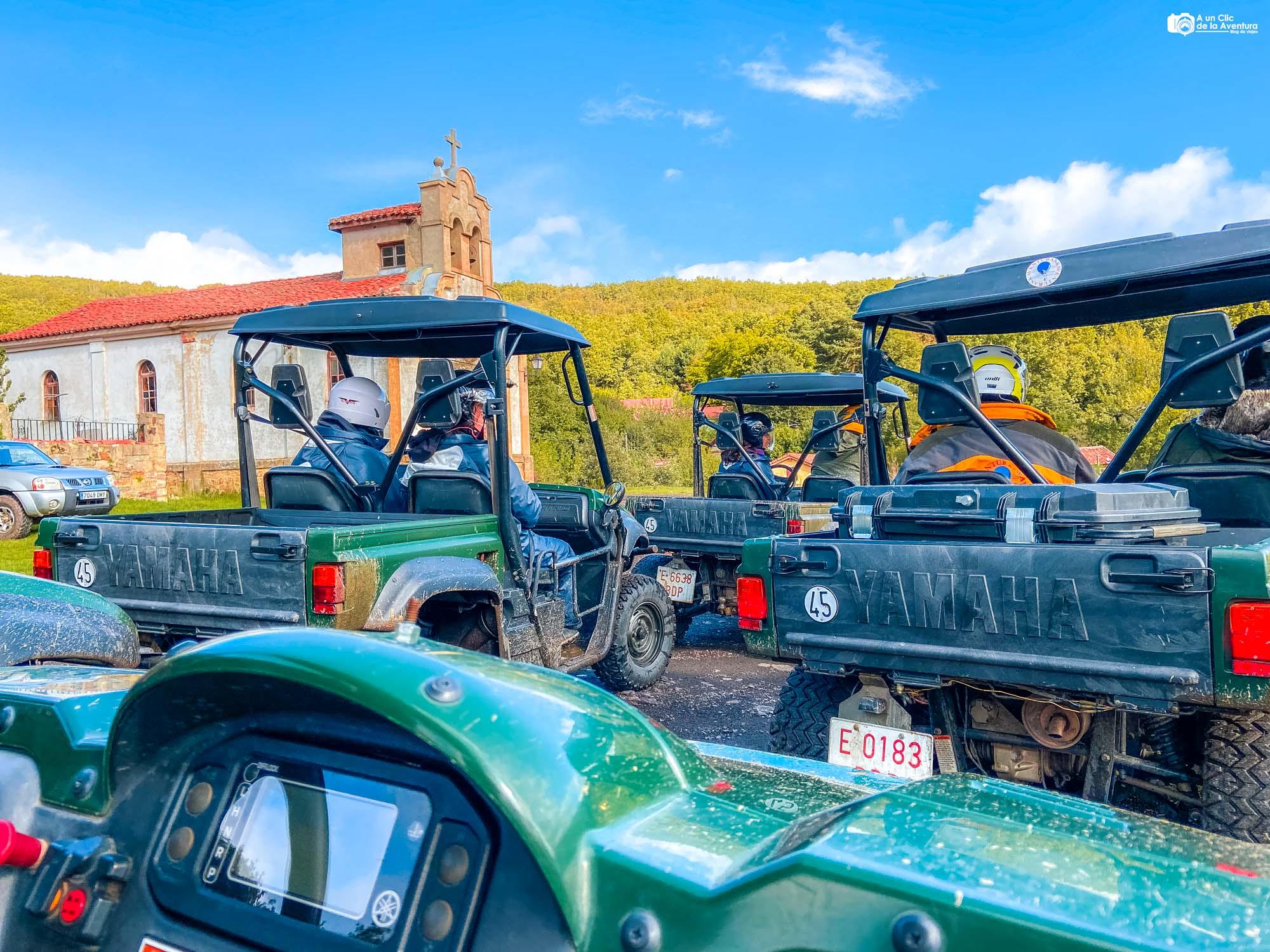 Ruta con buggies en el Parque Ferroviario de Barruelo de Santullán